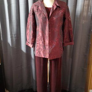 Susan Graver 3pc Outfit Size Small